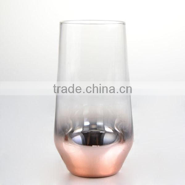 high quality cooper charger wine glasses set for dinner