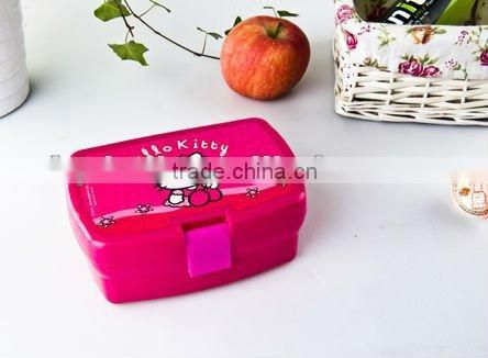 China supply plastic container,lunch box and bottle set