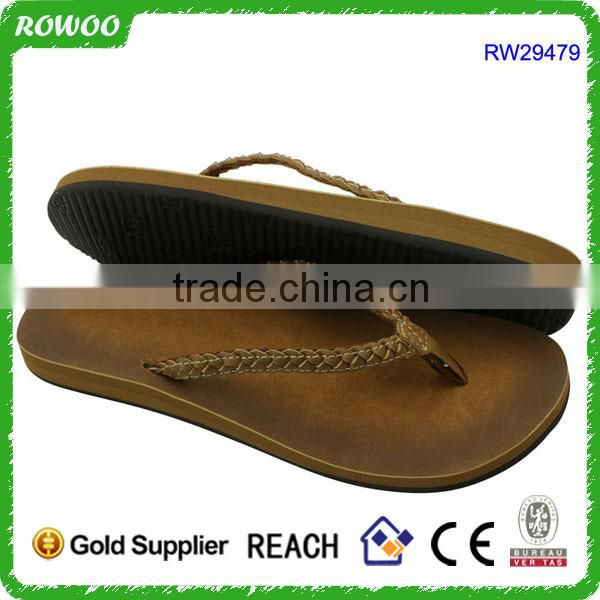 RW29479 pu chappal for girls , high quality leather chappals , women PU flip flops