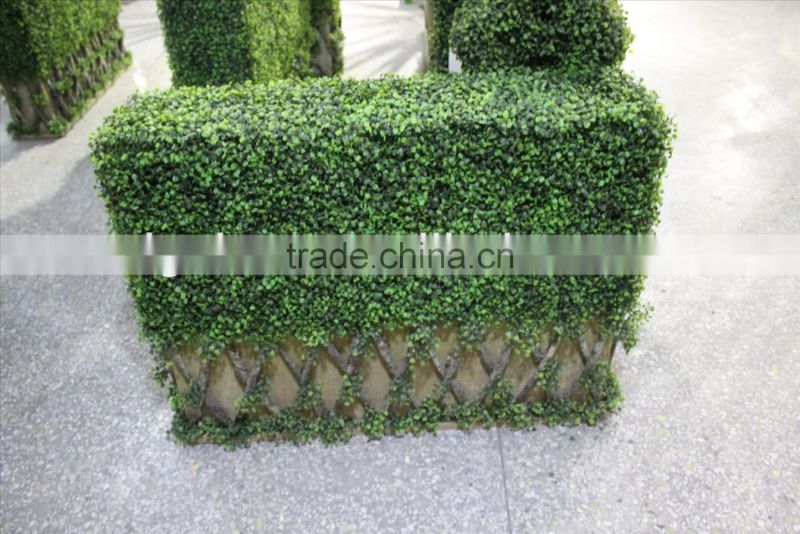 2015 New arrivals artificial plant wall /fake green wall plastic hanging wall for indoor/ outdoor decoration