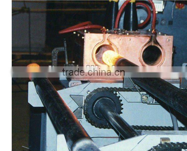 Medium frequency induction through hot furnace