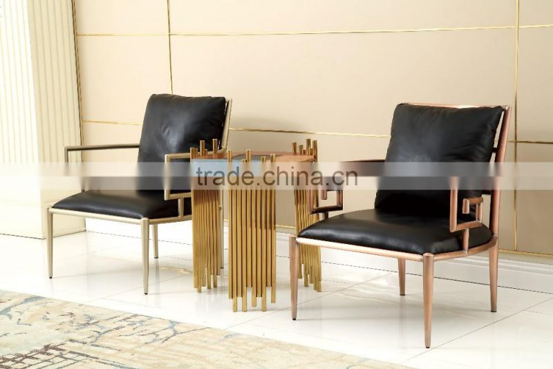 ND065 luxury stainless steel leisur chair modern and comfortable design