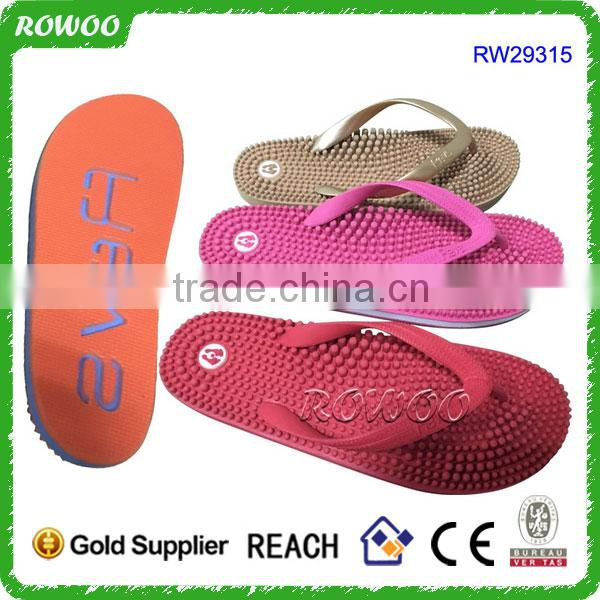 Foot Massager Unisex Rubber Summer Acupunture Slippers