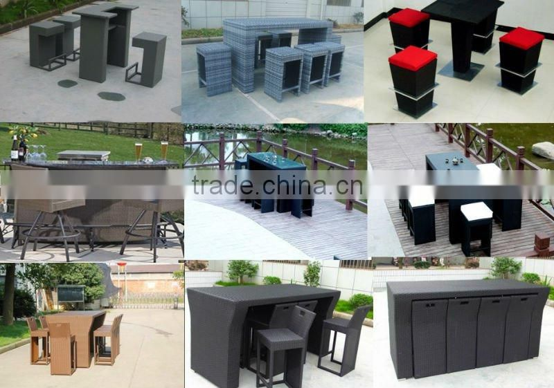 Simple Outdoor Furniture Leisure Rattan Bar Set