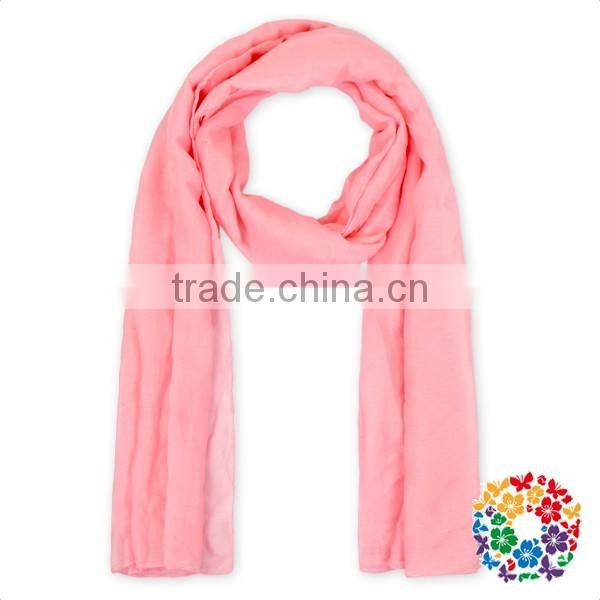 Baby Girls Luxuries Washable Solid Color Fashion Scarf Various Color Silk Scarf
