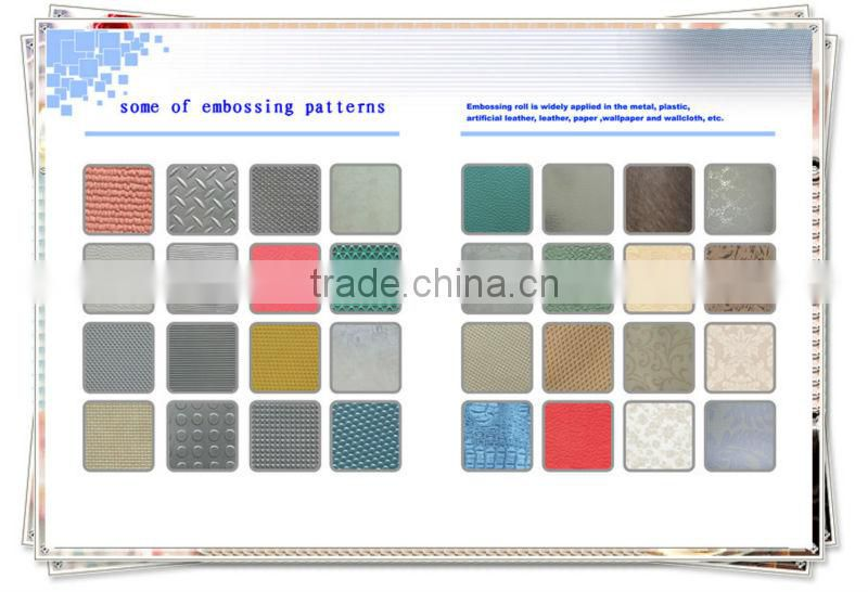 female and male nonwoven fabric embossing rollers for sanitary and disposable diaper