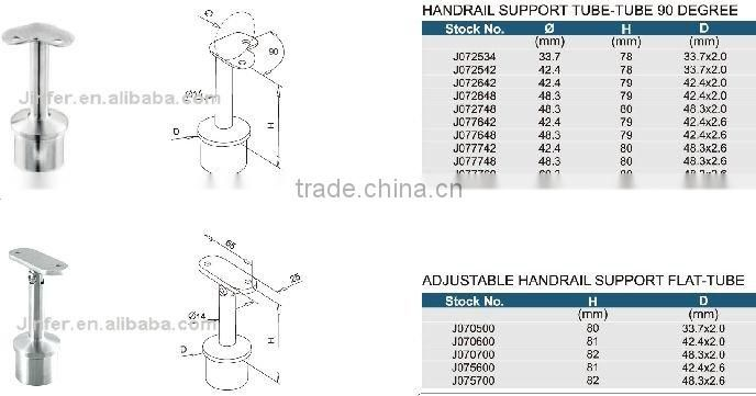 SS/Stainless steel Handrail Support /inox handrail component/handrail component