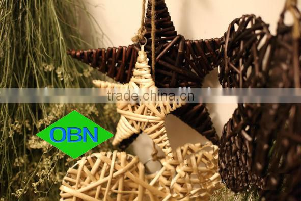 Christmas hanging wicker wreath