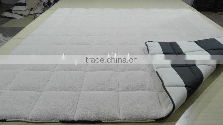 2016 Best selling product super soft microfiber quilt, Lamb Fleece Duvet made in china