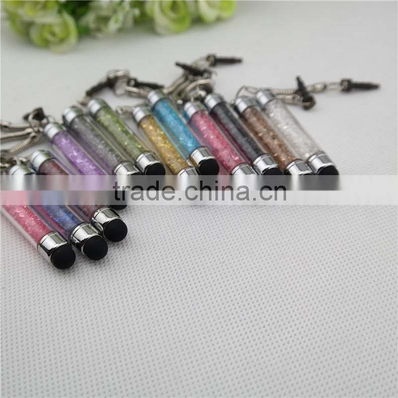 TCR-0903 crystal touch pen with pendant , bling crystal stylus pen