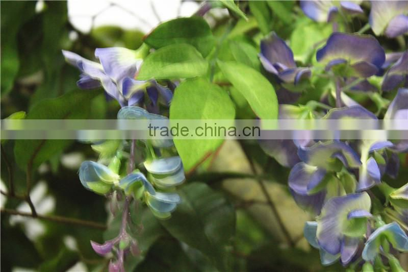 Home garden deco 50cm to 400 cm hight artificial purple large Chinese wistaria EDHS1501 1602