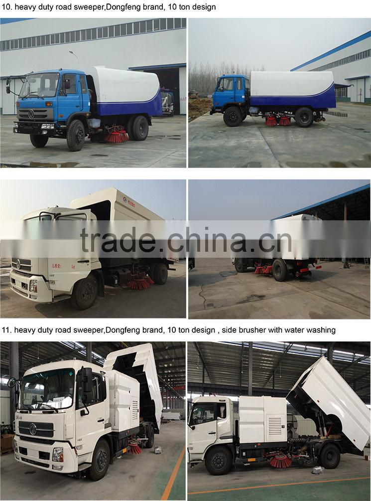 dongfeng pto driven tractor road sweeper 8 m3