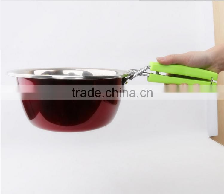 Kitchen Stainless Steel Plate Retriever Tongs/Bowl Pot Pan Gripper Clip