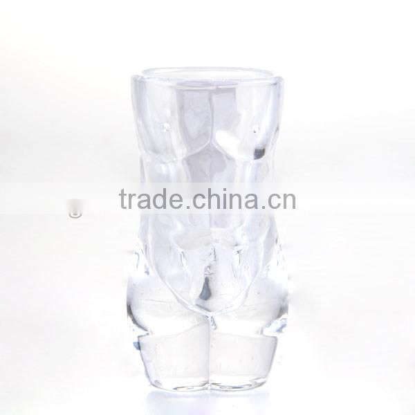 3oz crystal tumbler shot glass body wine glass