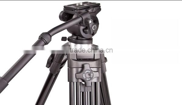 Professional Video Tripod heavy duty with fluid pan head for camera film photography WT717