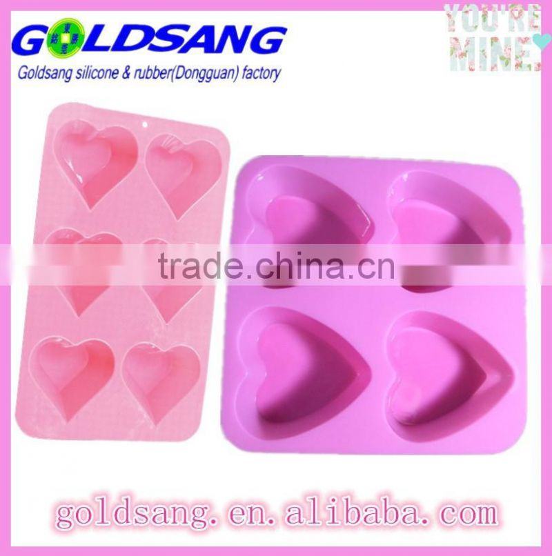 lovely heart shape silicone cupcake mould with FDA/LFGB standard
