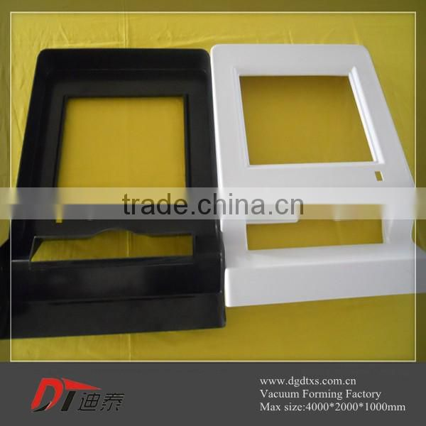 Custom black and white plastic Outline vacuum forming part