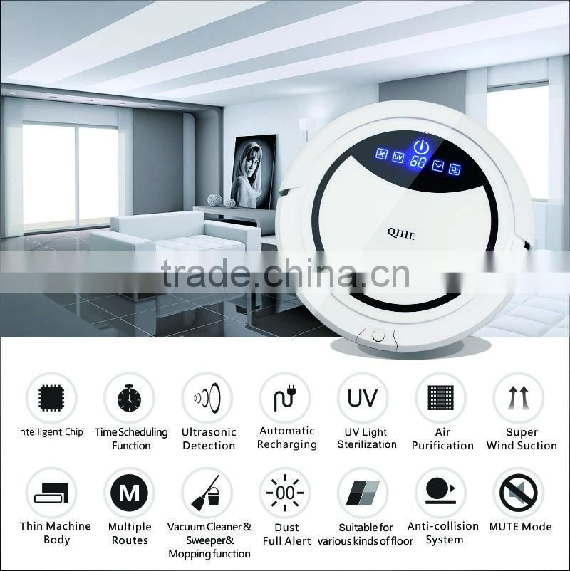 China intelligent suction robot vacuum cleaner and mop smart vacuum cleaning robot low price dry and wet robot