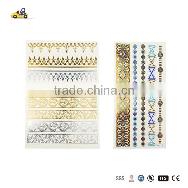 HOT Sale wholesale temporary black metallic gold tattoo stickers