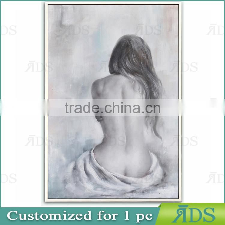 Modern Nude Woman Body Art Oil Painting