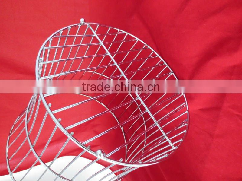 Chrome plate wire towel basket YZ4118C