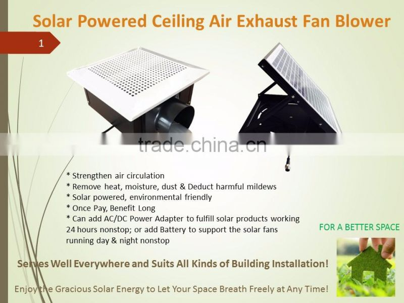 SUNNY Bathroom Air Conditioning Use 24 hours Solar Ventilation Plastic Ceiling Air Exhaust Fan