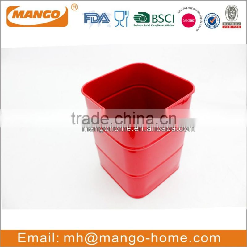 Metal rectangle home goods nuts candy lock storage canister