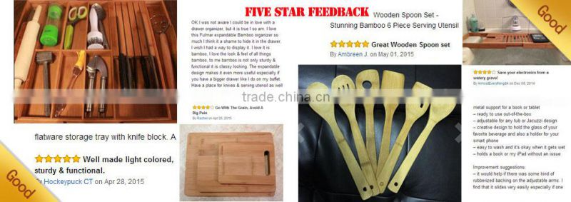 4 Dividers Bamboo Mail Storage Organizer Mail Holder/Homex_FSC/BSCI Factory