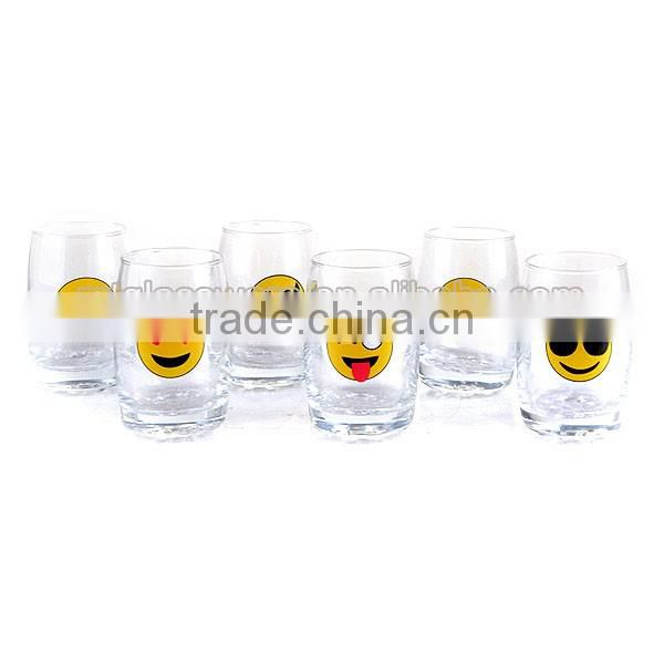 280ML cute emoji smile water glass cup