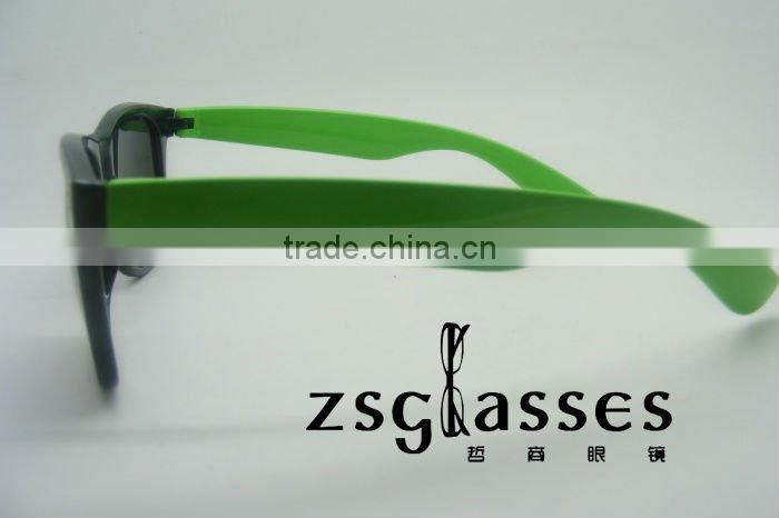 sunglasses with rainbow lens/custom made sunglasses/custom logo sunglasses