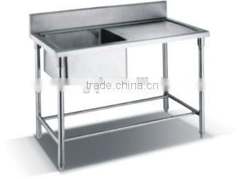 Hot sale stainless steel sink work bench ZQS-1T