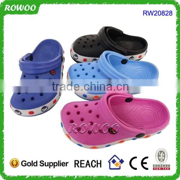 new design fancy car shape garden shoes kids lovely eva clogs