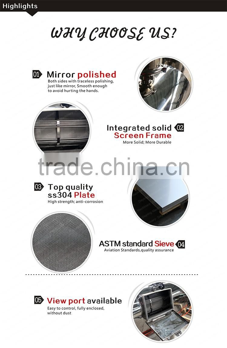 Air flow sieve for resin powder