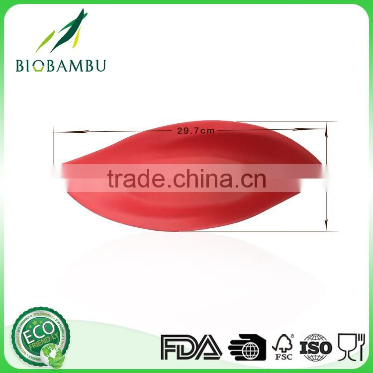 Reasonable price OEM available bamboo fber dinner plates for restaurants