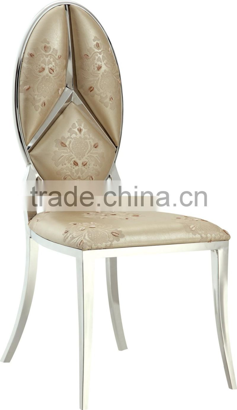 2016 luxury stainless steel dinning chair for whole sale A068G