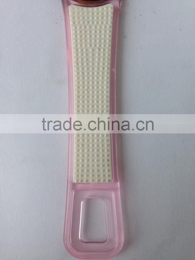 Sandpaper foot file with plastic handle,pedicure foot file,smoother foot file