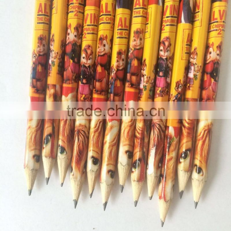 Low price black wood standard pencils with bulk packing
