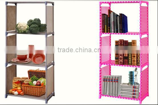 Hot sale high quality easy assemble movable bookshelf