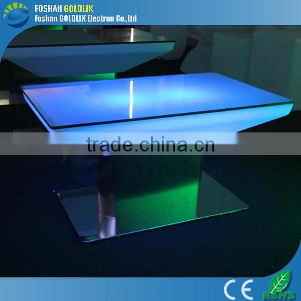 Led outdoor table rechargeable led plastic furniture GKT-046AR