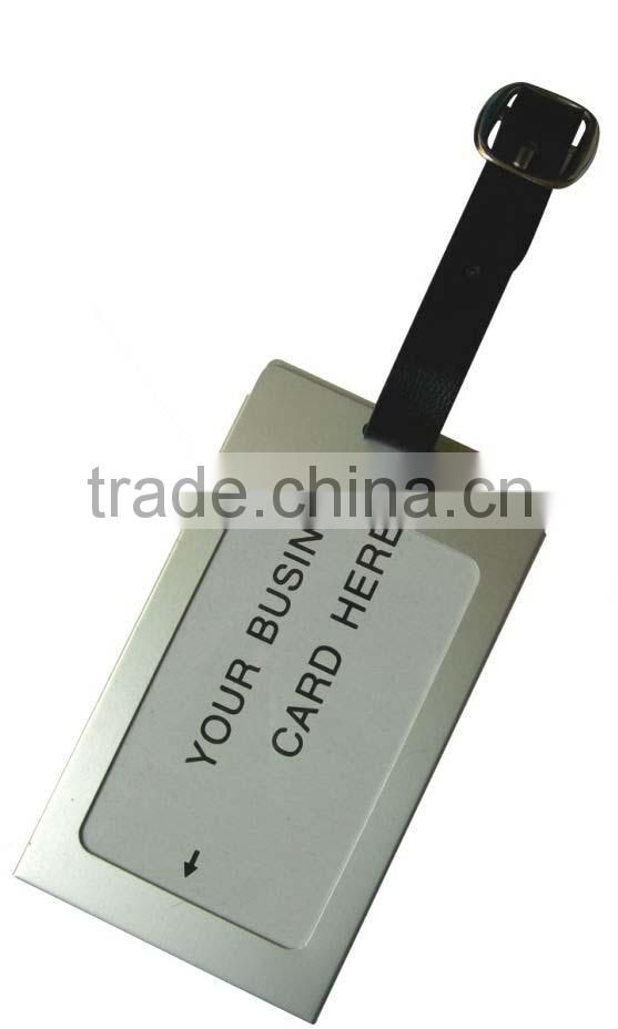 SILVER LUGGAGE/BAGGAGE/SUITCASE/BAG ID/NAME/ADDRESS ALUMINUM LUGGAGE TAG
