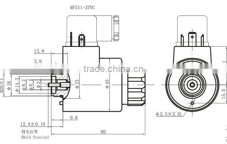Hydraulic 24VDC wet-pin type rexroth solenoid