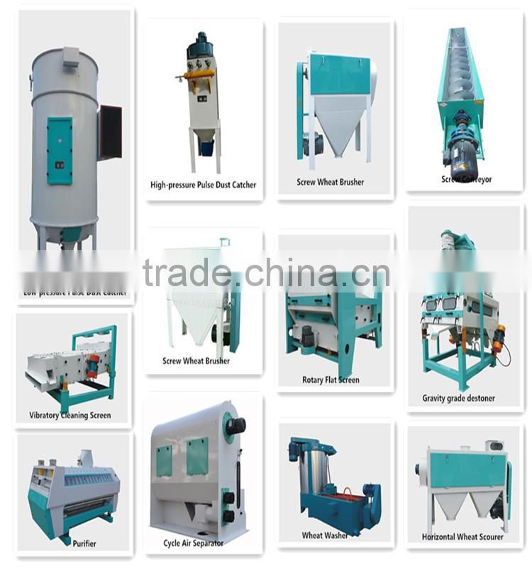 China manufacturer screw wheat brusher
