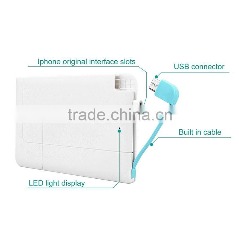 Universal Ultra Slim Best Power Bank Portable Cheap Power Bank 2500mah
