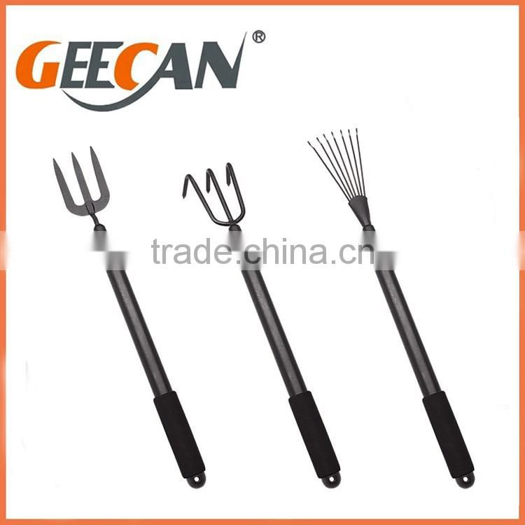 Durable, Heavy Duty Steel Metal with Ergonomic Soft Touch Handles 7 Piece Garden Tool Set