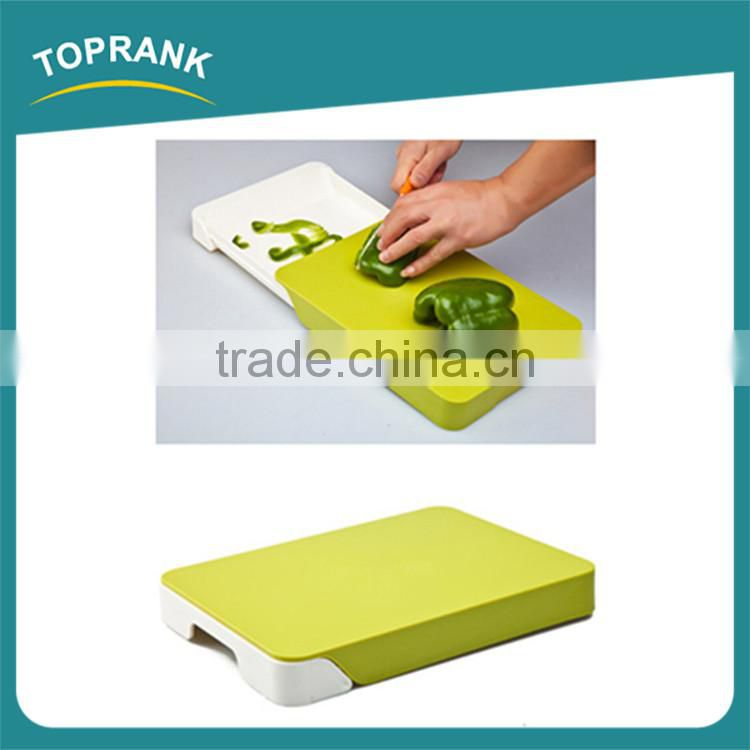New design wholesale kitchen cooking concepts ABS chopping blocks, flexible cutting board with drawer