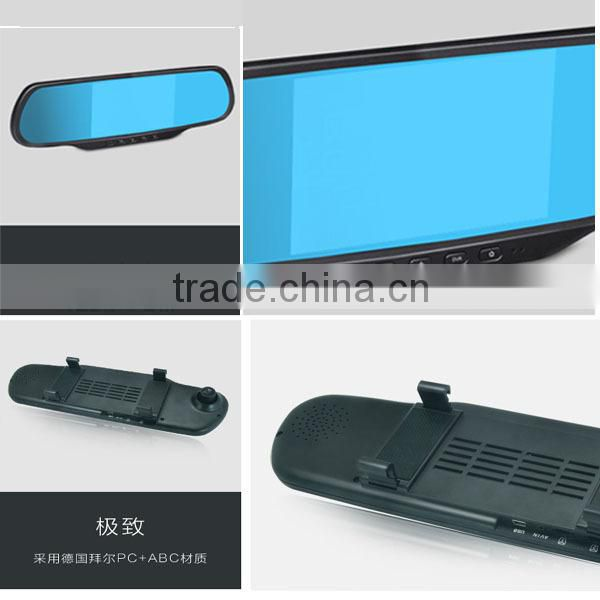 5 inch rearview mirror with gps bluetooth camera dvr recorder