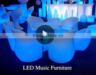 2014 Hot Sale Bar Furniture Battery Operated Lighted Table with Storage