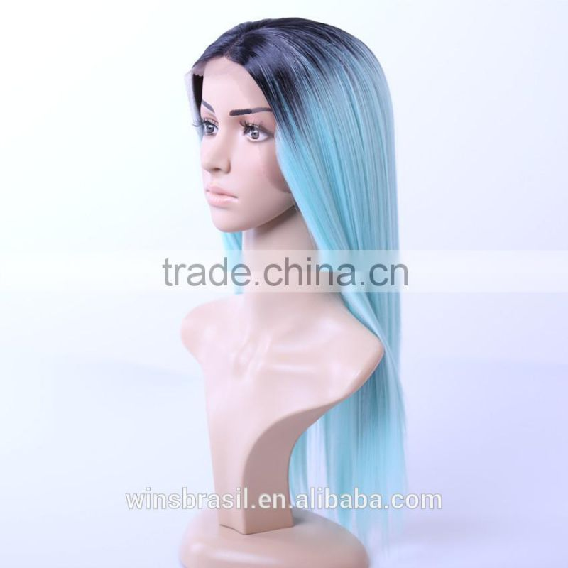 Wholesale european silk straight lace wigs lace front wig very long hair wigs