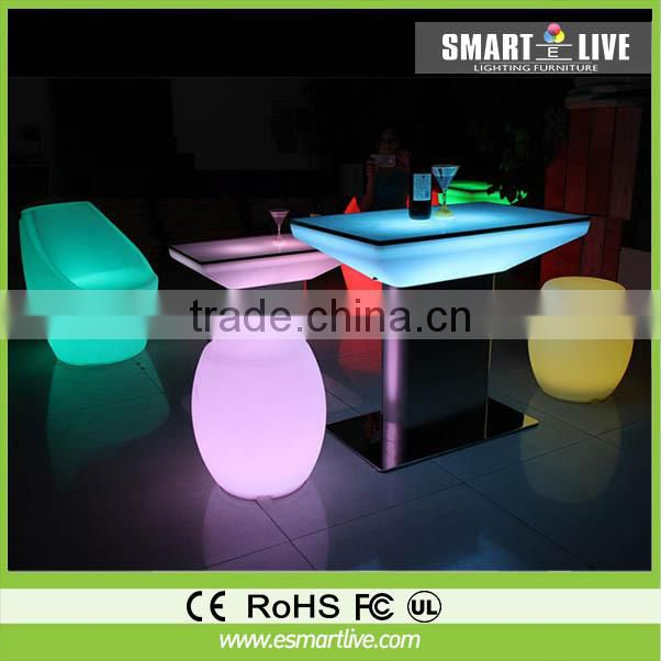Hot Sale !!!Glowing Led Cocktail Table/Led Coffee Tbale for Led Furniture