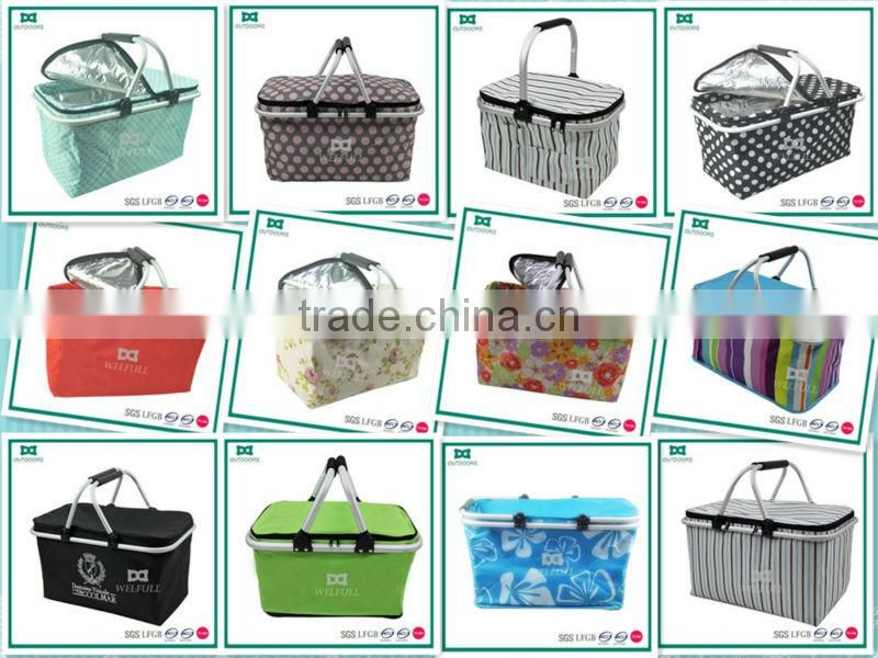 Bulk empty storage basket cooler picnic basket
